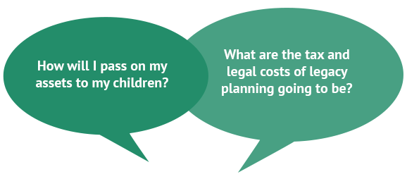 How will I pass on my assets to my children? What are the tax and legal costs of legacy planning going to be?